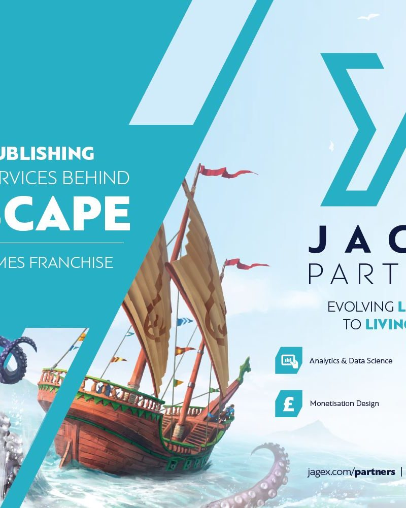 JAGEX PARTNERS WILL BRING THE EXPERTISE AND EXPERIENCE BEHIND $1BN LIVING GAMES SUCCESS RUNESCAPE TO THIRD-PARTY STUDIOS