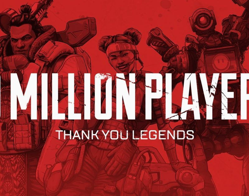 10 million players and 1 million concurrent players for Apex Legends in 72 hours!