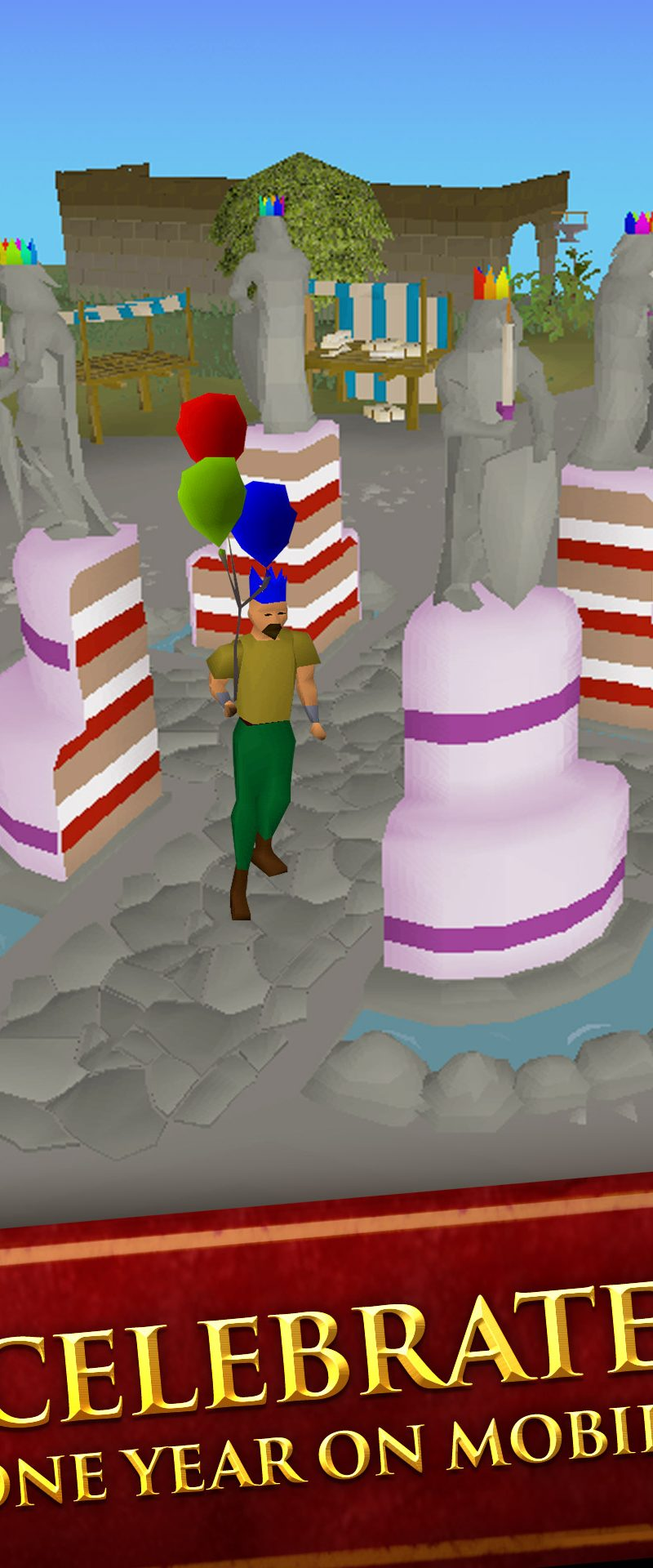 Old School RuneScape on mobile serves up a slice of cake to celebrate the award-winning game's first birthday